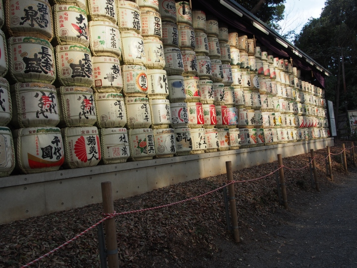 I may have contemplated how long it would take a normal human being to consume all the sake that could fill these barrels.