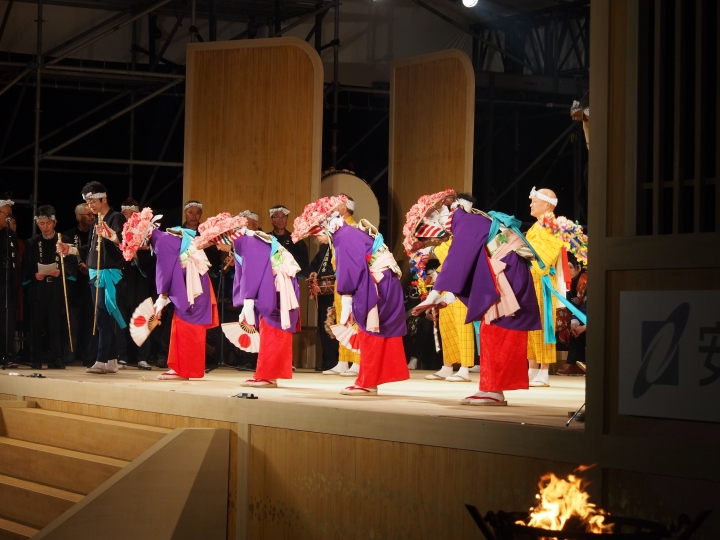 Some of the traditional performers from Tōhoku region.